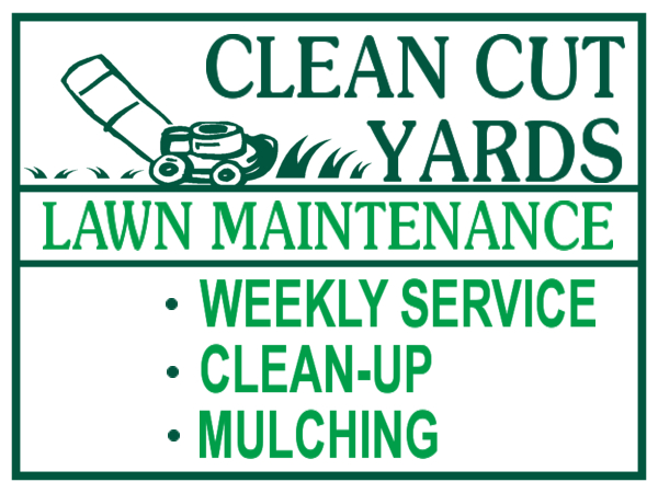 Sign Layout Lawn Care Lawn Care Designs Lawn Care Yard