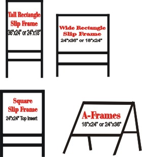 Image Gallery outdoor stake sign frames