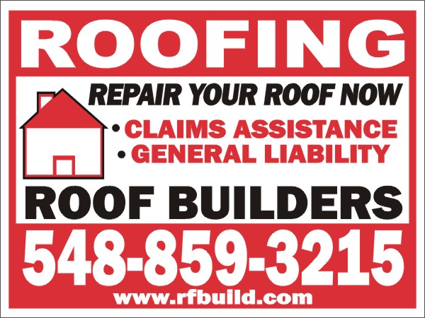 Sign Layout Roofing Roofing Designs Roofing Yard Sign