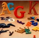 building letters formed plastic