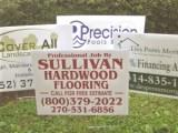 hardwood flooring sign