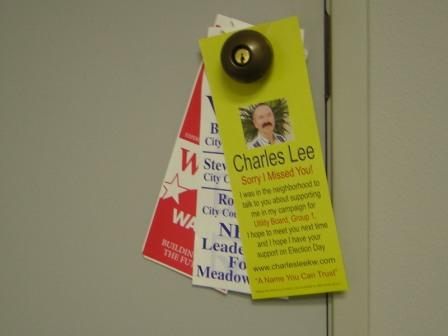 election door hangers