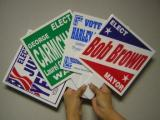 paddle signs,election, campaign, political