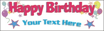 birthday banners, Birthday banner