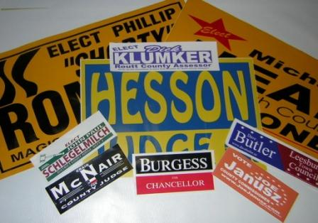 Decals Signelectcom Custom Cheap Political Election Campaign - Custom cool vinyl stickers   for your political campaign
