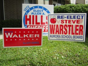 political yard signs