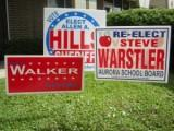 custom political signs