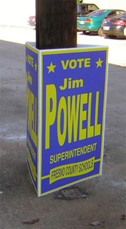 tri fold sign, poll wrap sign, poll signs,
