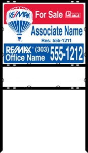 remax sign panal and frame